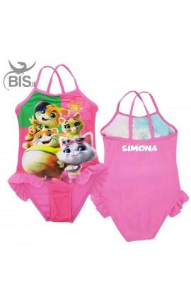 """Costume intero bimba """"44 gatti"""" da personalizzare con nome"""