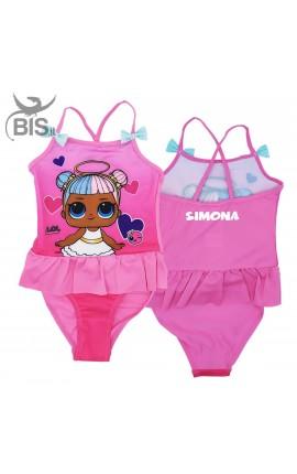 """Costume bimba """"LOL"""" con fiocchetti da personalizzare"""