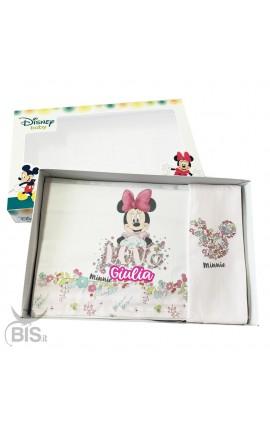 """Set lenzuola fiori """"Minnie"""" da personalizzare"""