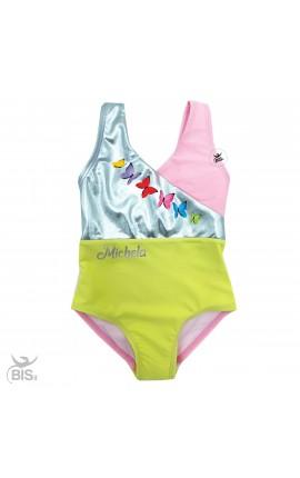 Costume bimba con farfalle da personalizzare con nome