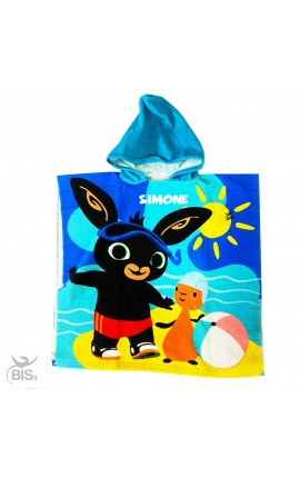 Personalized Kid Beach Bathrobe Frozen + Name