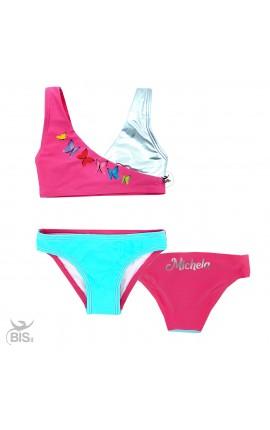Bikini bimba con farfalle da personalizzare con nome
