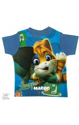 """T-shirt bimbo """"44 gatti"""" con nome"""