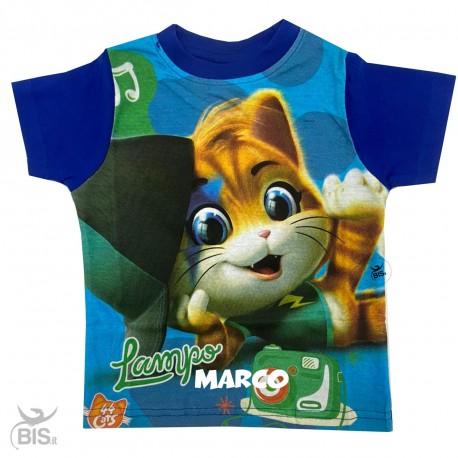 """T-shirt bimba """"44 gatti"""" con nome"""