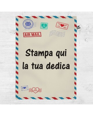 Plaid stile lettera antica...