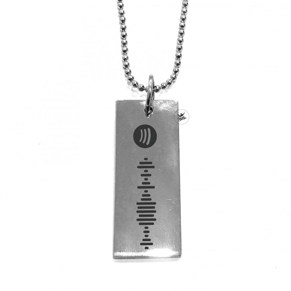 Collana musicale, inquadra il codice inciso sulla collana con spotify per far partire la tua canzone preferita