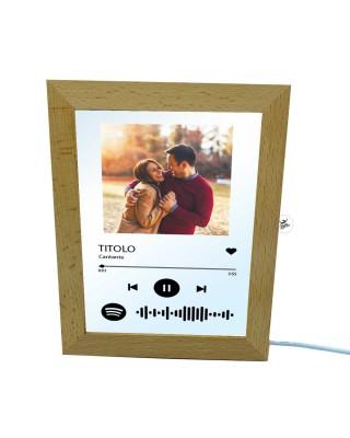 Lampada led quadretto musicale personalizzabile con foto