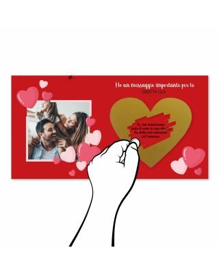Gratta e vinci personalizzabile per San Valentino