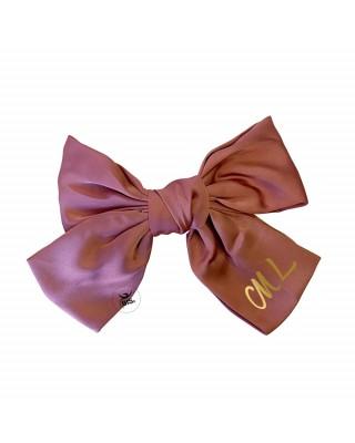 Customizable bow hair clip