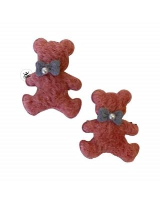 Bear shaped hair clips