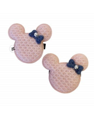 Mouse shaped hair clips