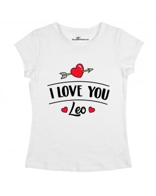 """T-shirt Donna  """"I love you"""" da personalizzare"""