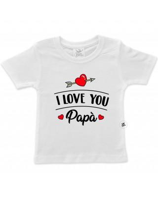 """T-shirt bimba/o """"I love you"""" da personalizzare"""