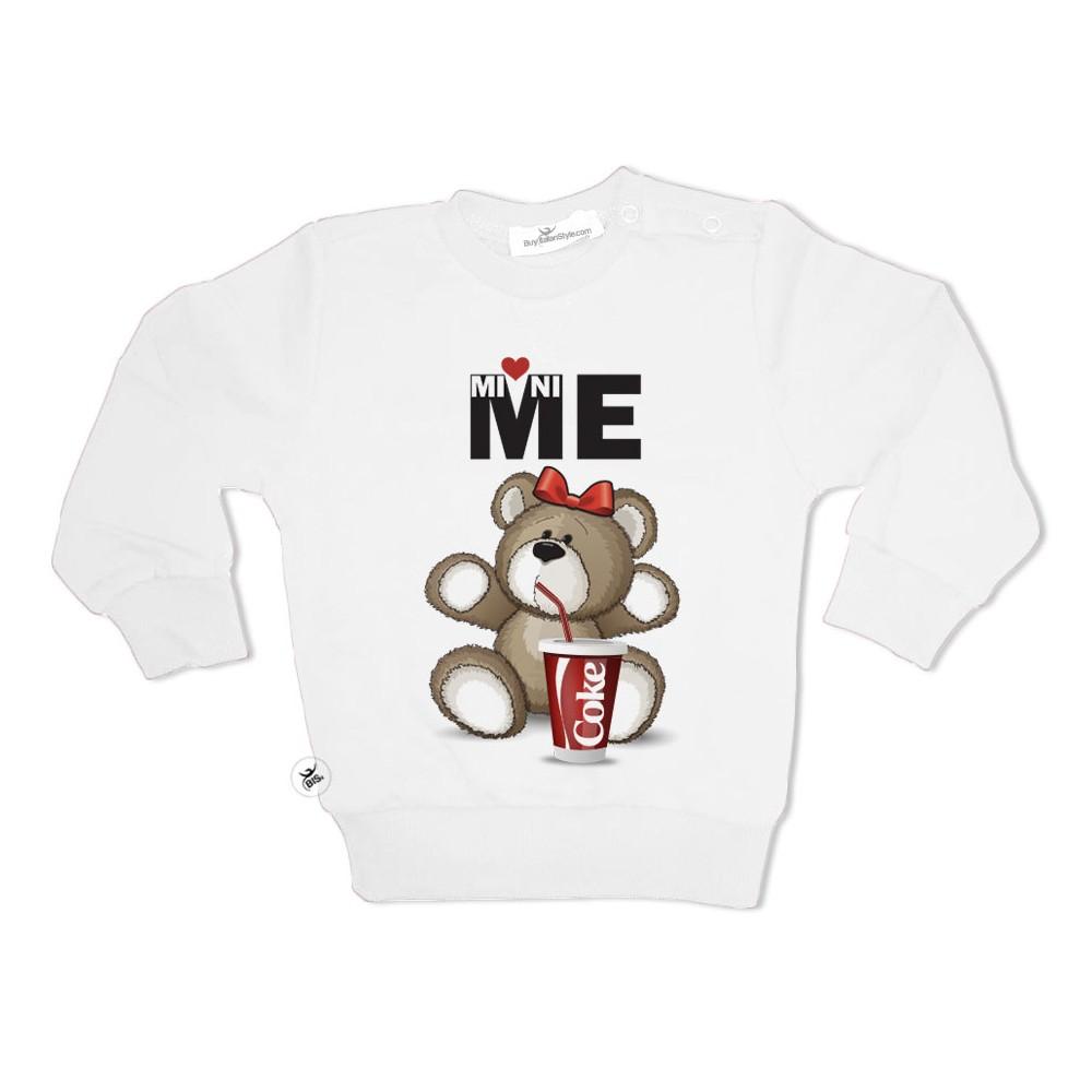 "Baby sweatshirt ""Mini me bear"""