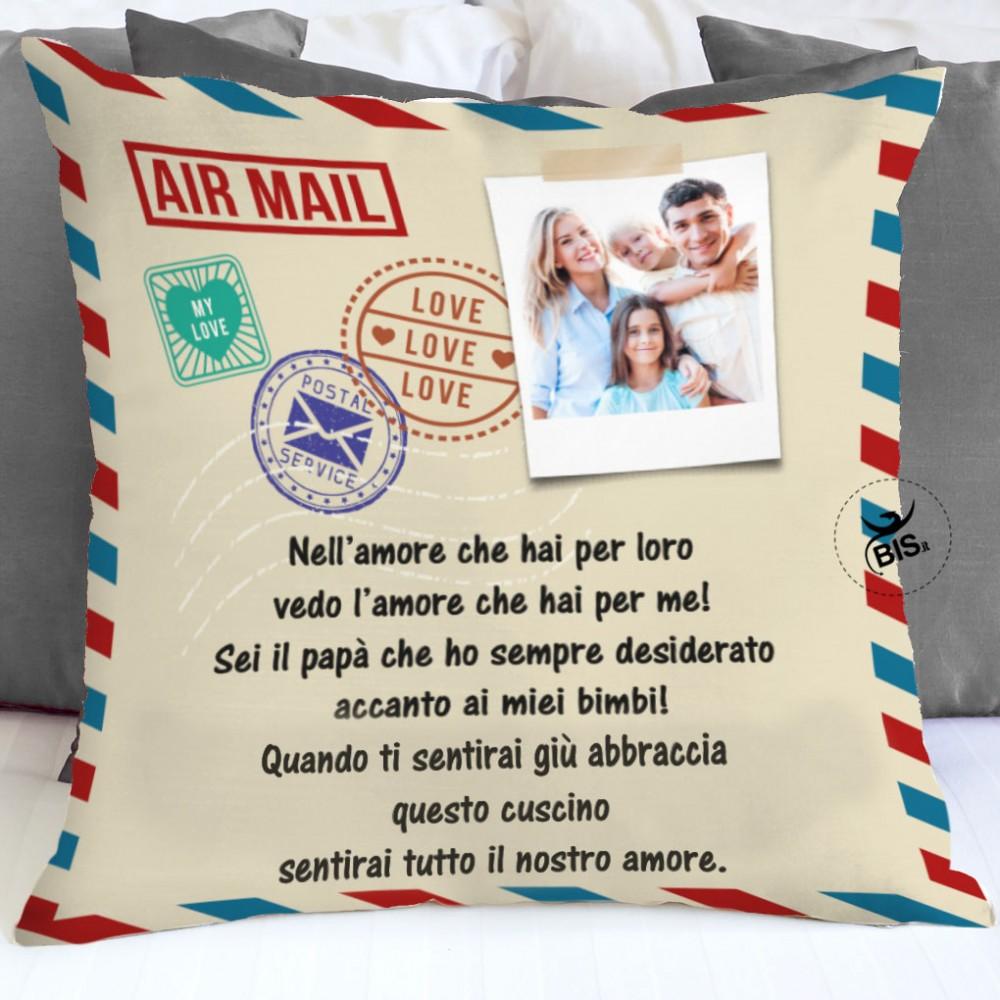 Federa cuscino stile lettera da personalizzare con foto e dedica