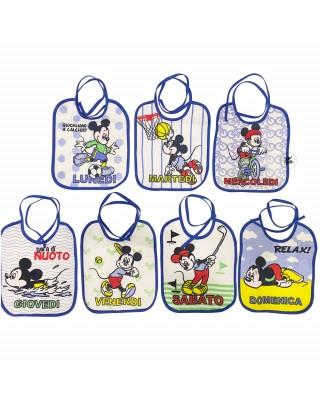 "Kit 7 bavaglini neonato/a ""Disney"""