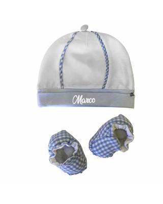 Customizable Newborn summer hat and cradle shoes