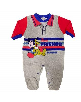 "Customizable Summer romper ""Mickey mouse true friends"""
