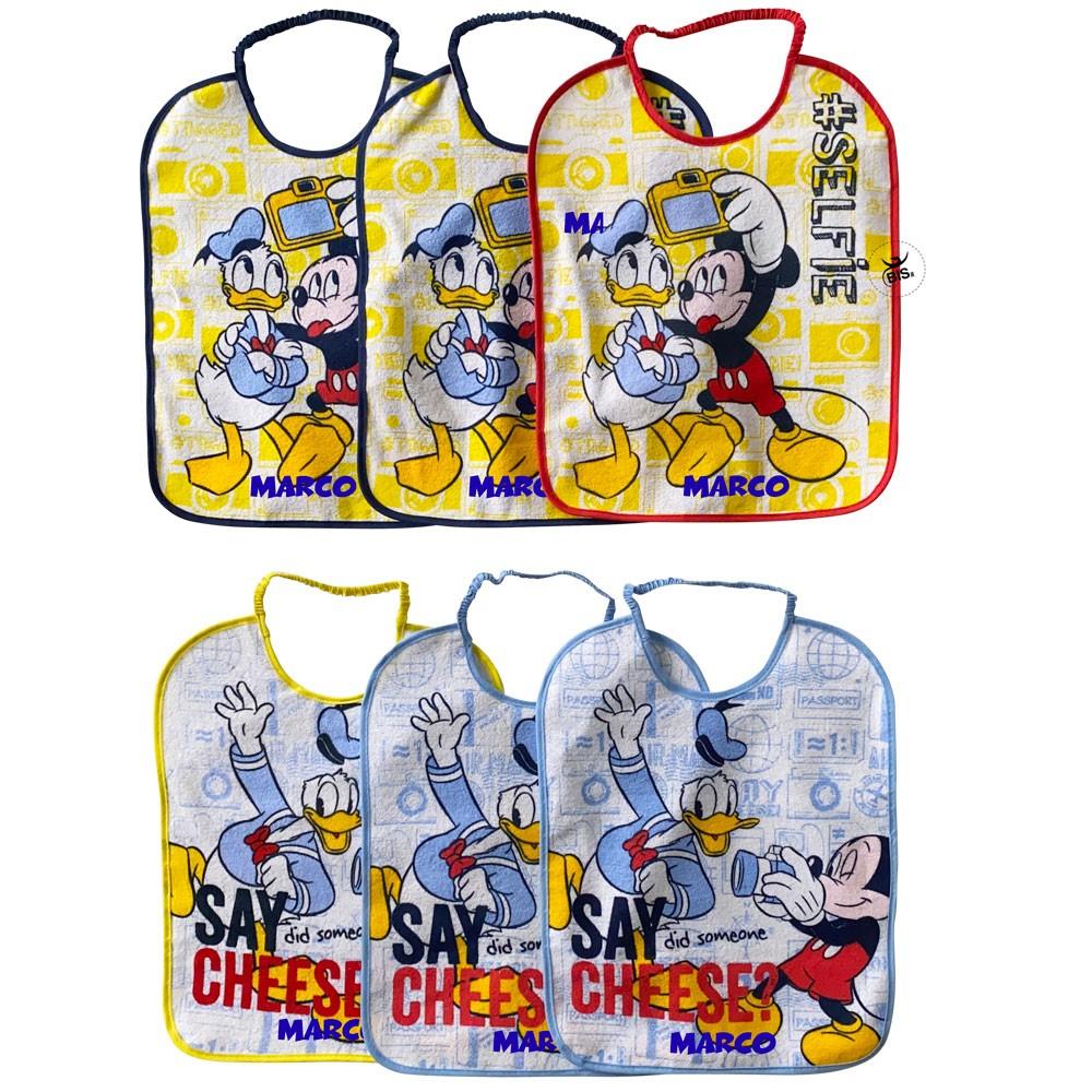 "Baby Bib ""Mickey Mouse"" 6 piece set"