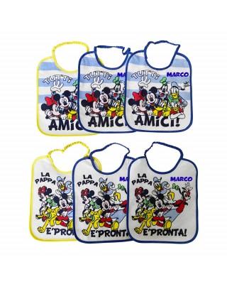 "Baby Bib 6 Piece Set ""Mickey Mouse"""