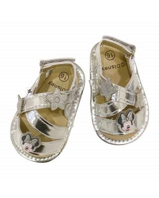 "Sandalo neonata argento ""Minnie"""