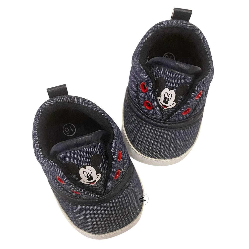 """Scarpine neonato """"Mickey mouse"""" effetto jeans"""