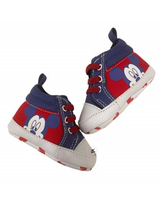 """Newborn Canvas Shoes """"Mickey Mouse"""""""