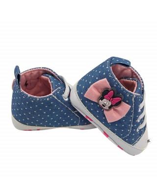 "Newborn Denim effect Shoes ""Minnie"""