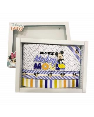 "Set lenzuola ""Mickey mouse""  AZZURRO"