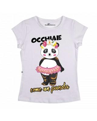 """T-shirt Donna  """"Occhiaie come un panda"""""""