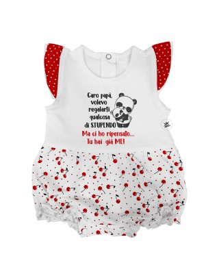"Newborn summer romper suit ""...You already have me!"""