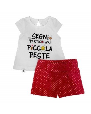 """Baby girl outfit """"Little pest"""""""