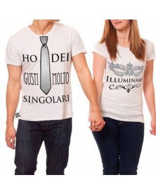 coppia t-shirt Ho dei gusti molto singolari - Illuminami