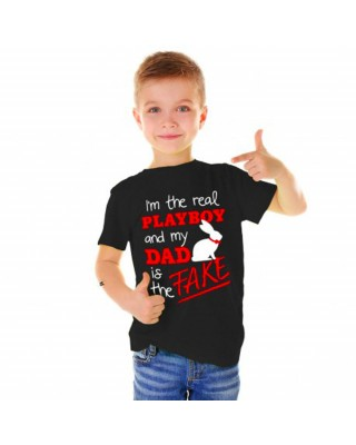 """Boy's T-Shirt """"I'm the real..."""