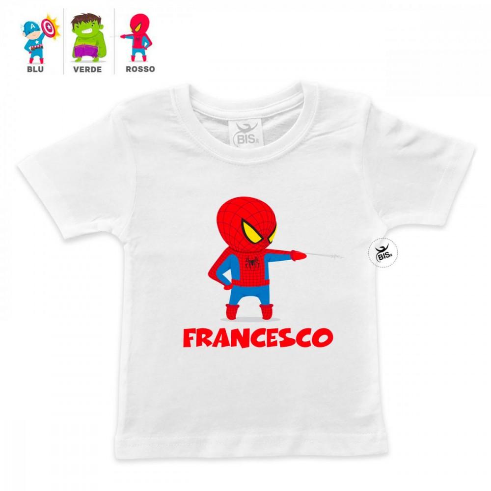 t-shirt bimbo personalizzata super eroe e nome