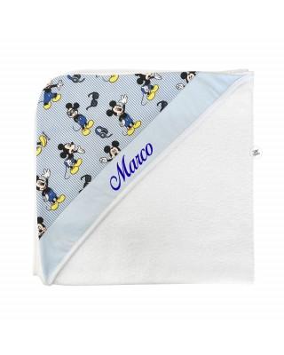 "Newborn bathrobe ""Mickey Mouse"", customizable"
