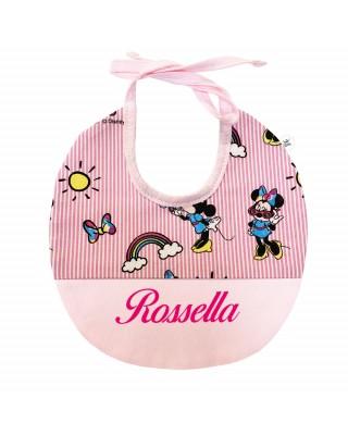 "Customizable Baby Bib ""Minnie Mouse"""