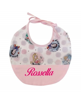 "Customizable Baby Bib ""Disney Princesses"""
