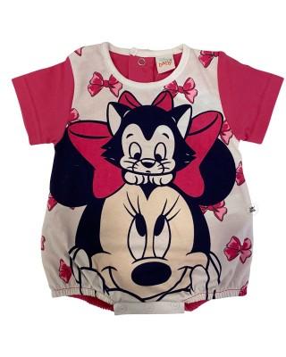 Pagliaccetto estivo Minnie con gattino fuxia
