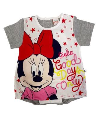 """Pagliaccetto estivo Minnie """"Good days only""""   grigio"""