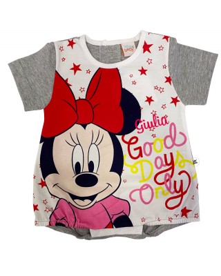 """Summer romper Minnie Mouse """"Good days only"""", customizable"""