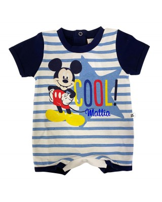 """Summer Romper Mickey Mouse """"Cool"""", customizable"""
