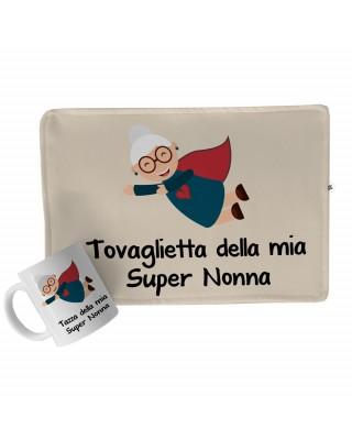 Kit regalo Tovaglietta in tessuto + Tazza