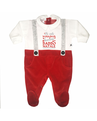 """Christmas Baby Jumpsuit """"I..."""