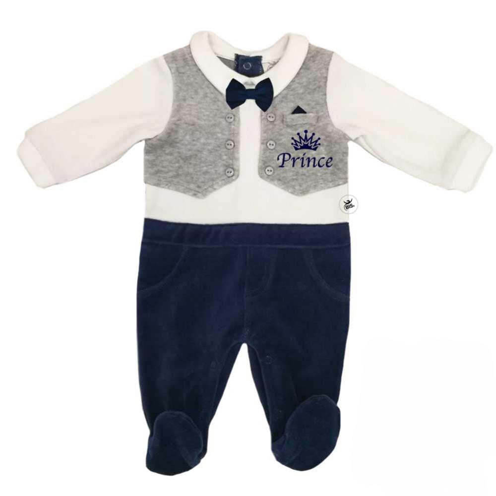 """Tutina neonato con gilet e papillon """"prince"""""""