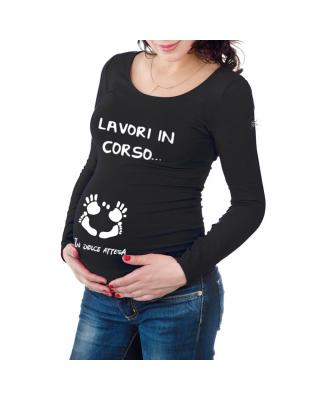 T-shirt premaman LAVORI IN CORSO