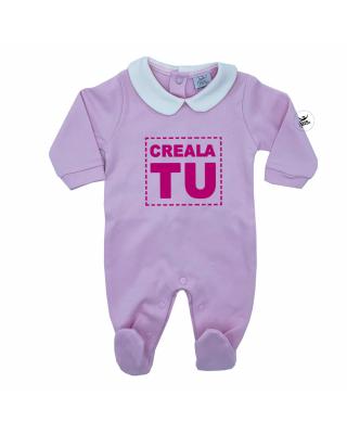 Tutina neonata con colletto in caldo cotone da personalizzare