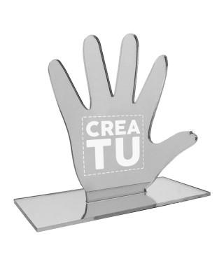 Targhetta ''mano'' in plexiglass personalizzabile