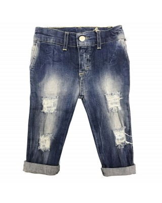 Jeans bimbo strappato