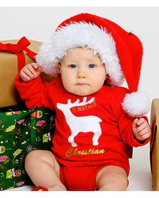 body neonato il mio primo Natale personalizzabile con nome